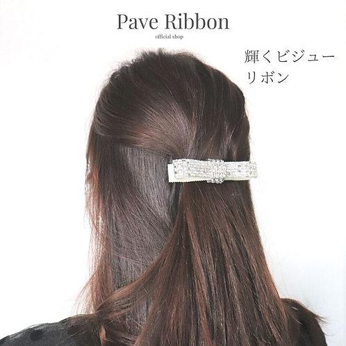ビジューリボンバレッタ(Pave ribbon)