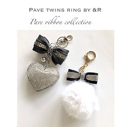Pave twins ring charm