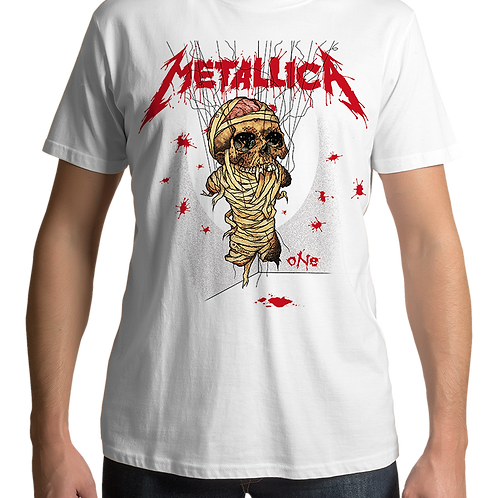 Metallica - One (White T-Shirt)