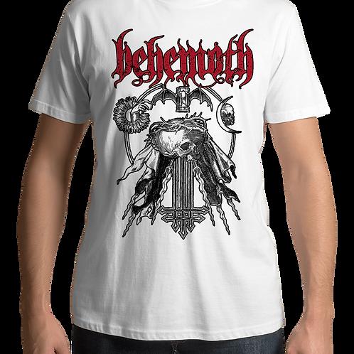 Behemoth - Profane Skull (White T-Shirt)