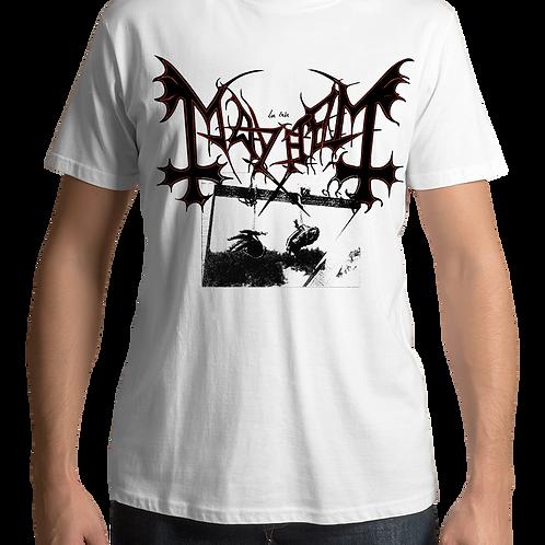 Mayhem - Deathcrush (White T-Shirt)