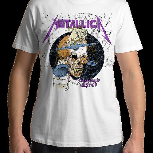 Metallica - Damaged Justice (White T-shirt)