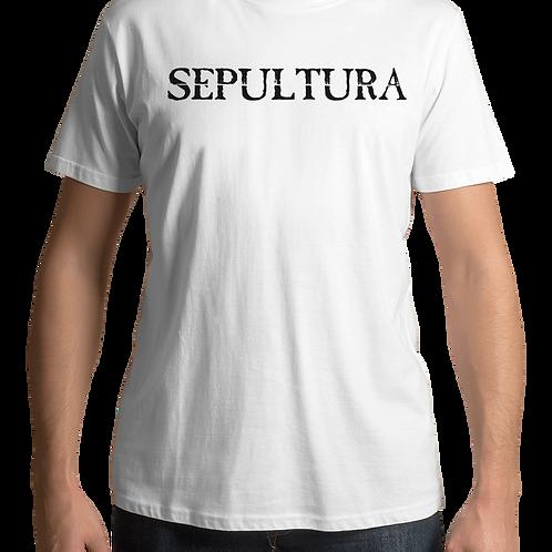 Sepultura - Logo (White T-shirt)