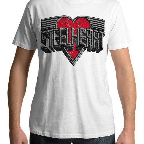 Steelheart - Logo 1 (White T-Shirt)