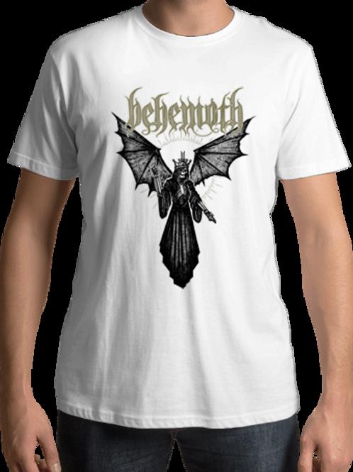 Behemoth - Angel Of Death (White T-Shirt)