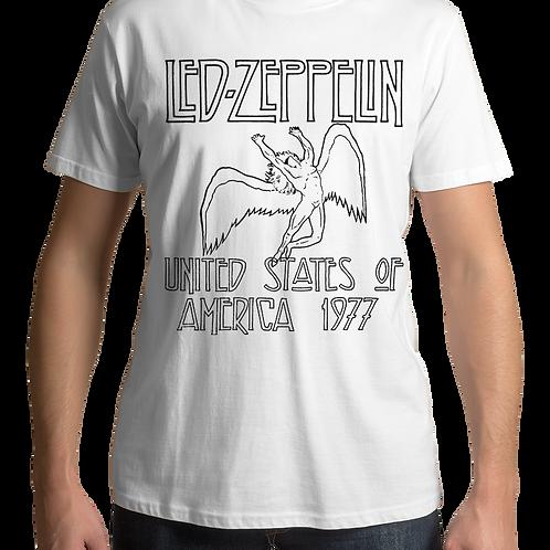 Led Zeppelin - USA 1977 (White T-Shirt)