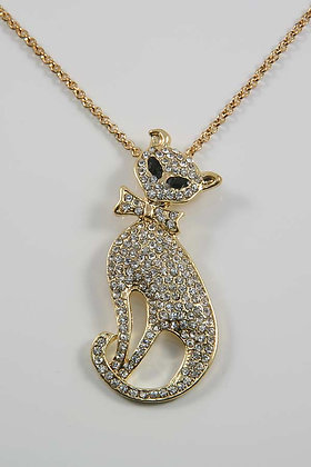 Gold Cat Lucky Necklace