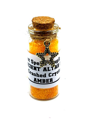 AMBER Ancient Altar Blessed Witches Salt & Crashed Crystals