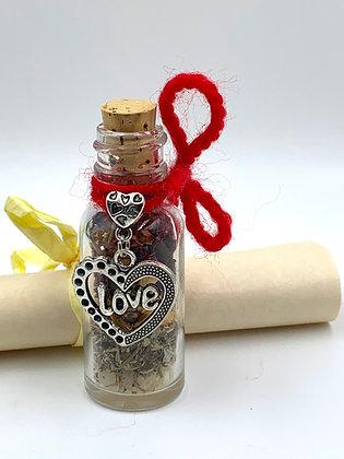 "Old Witch Secret ""LOVE"" Bottle Spell"