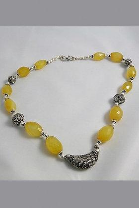 ADELE Unique Cherry Quartz Tibetan Silver Necklace