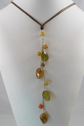 """""""Jolie""""Multi Colored Jade Necklace"""