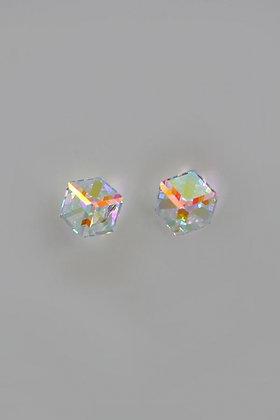 """""""Alsu"""" Swarovski Crystal Cubed Stud Earrings"""