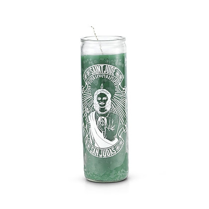 Saint Jude 7 Day Saint Candle Green
