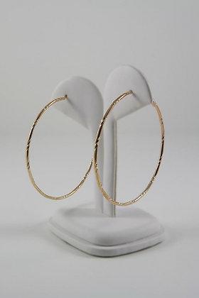 """Laci"" Large Gold Tone Hoop Earrings"