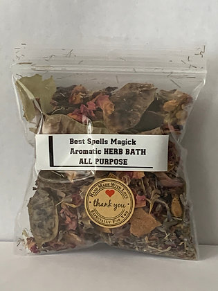 ALL PURPOSE Spell & Bath Herbal Blend with 49 Spiritual Elements