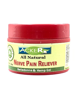 All Natural Belladonna & Hemp Nerve Pain Reliever Gel