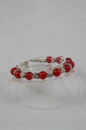 """Deloris"" Cornelian Bead Tibetian Silver Bracelet"