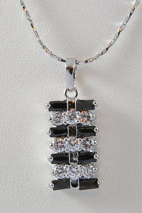 GINNA Clear & Black AAA Zircon Pendant