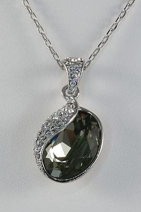 """Albina"" Olive Crystal Pendant"