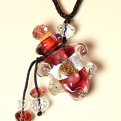 Perfume Bottle Pendant Necklace with LOVE ME Oil