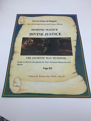 DIVINE JUSTICE Book of Shadow Page Demonic Magick