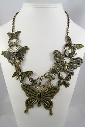 """""""Dulce""""Textured Butterfly 24""""L Necklace"""