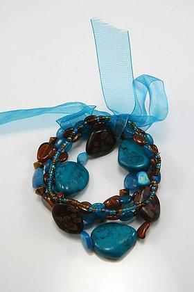 """""""Donata"""" Stone & Acrylic Beads Stretch Bracelet"""