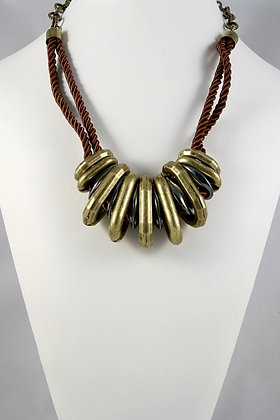 """Gregoria"" Massive Metal Loop Link Necklace"