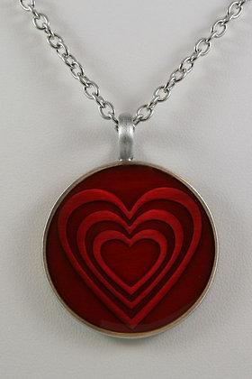 """""""Emily""""Red Heart Pendant"""