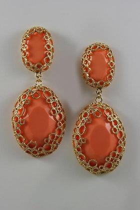 """""""Bold Orange New York """" Earrings"""
