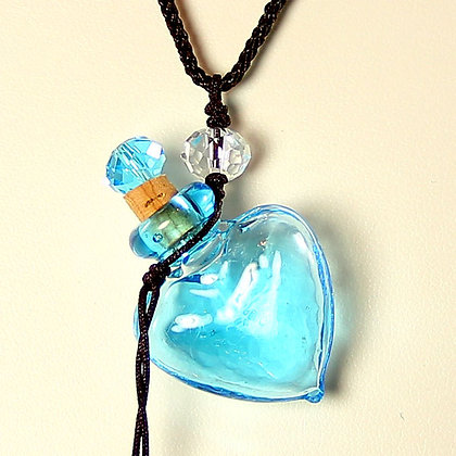 Perfume Bottle Pendant Necklace with PROTECTION Oil