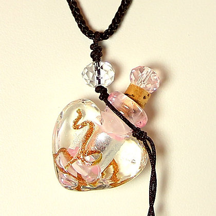 Perfume Bottle Pendant Necklace with FAST LUCK Oil