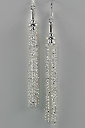 """Anabelle"" Sterling Silver Dangling Chain Earrings"