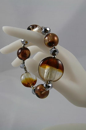 """Isolda""Brown Murano Glass Bracelet"