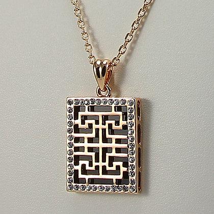TAI-LIN 18KGP Rectangle Pendant Necklace