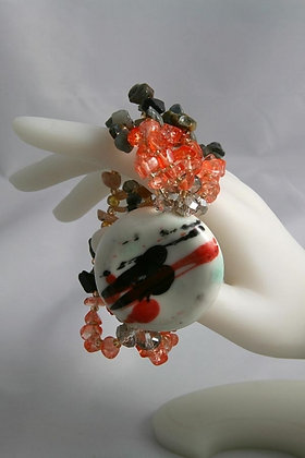 """Joan""Colored Stone Bead Stretch Bracelet"