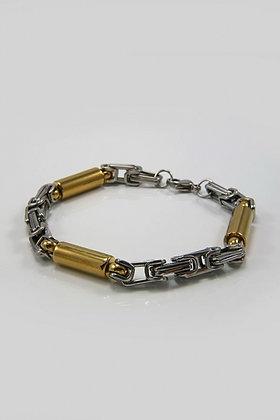 """Erinn' Titanium 8.5"" Two Tone Bracelet"