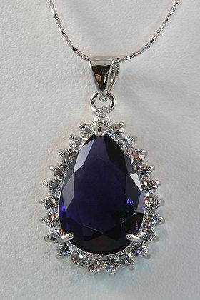 """""""Didra"""" Purple Teardrop Cut AA Zircon Pendant"""