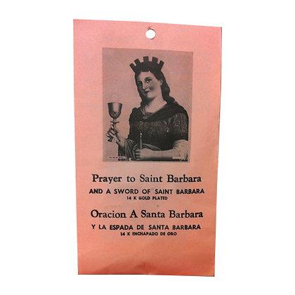 Saint Barbara Women Protector Talisman