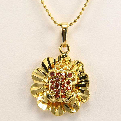 KATE Red Zircon Frog Pendant