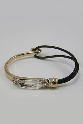 """Gretta""Crystal Accent Gold Tone & PV Bracelet"