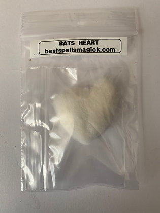 BAT'S HEART Lucky Amulet Charm