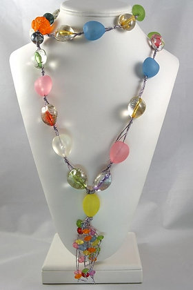 """""""Fiorella"""" Candy Glass 44""""L Necklace"""