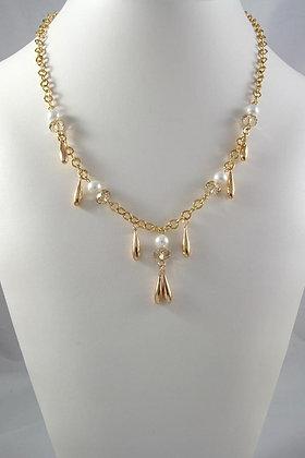 """Felice"" AAA Swarovski Cristal & Pearls Necklace"