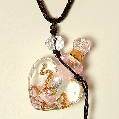 MARRY ME Oil in Murano Glass Perfume Bottle Necklace