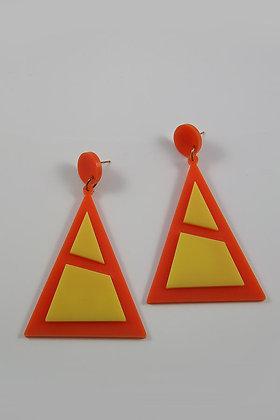 """Anate"" Acrylic Very Large Triangle Earrings"