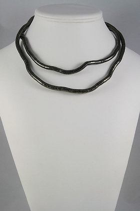 """Daphne"" Free Wrap Black Necklace /Bracelet"
