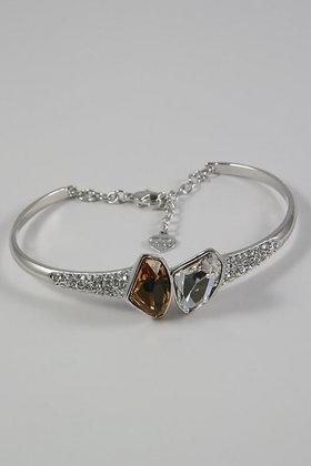 """Octavia"" Colorado Topaz & Clear Crystal Bracelet"