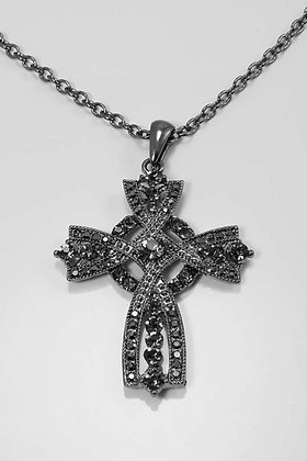 """Grace"" Crystal Cross 24""L Pendant Necklace"