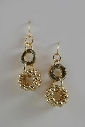 """""""Belinda""""Two-Tier Multiple Hoop Hook Earrings."""